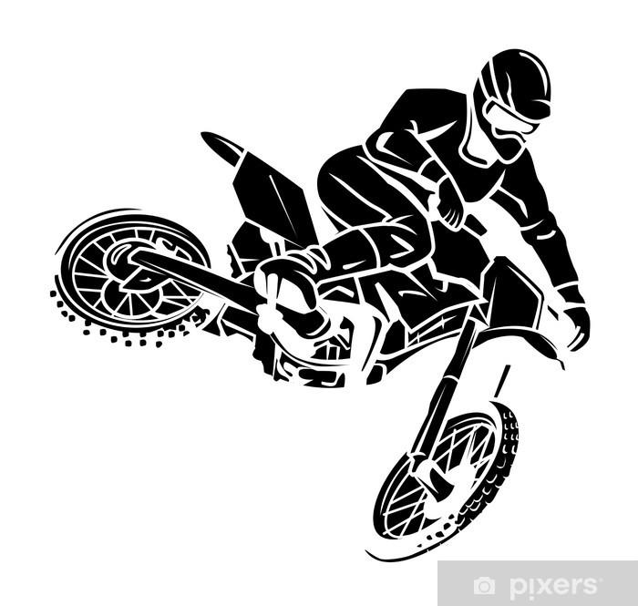 Moto Cross Rider Sticker Pixers We Live To Change