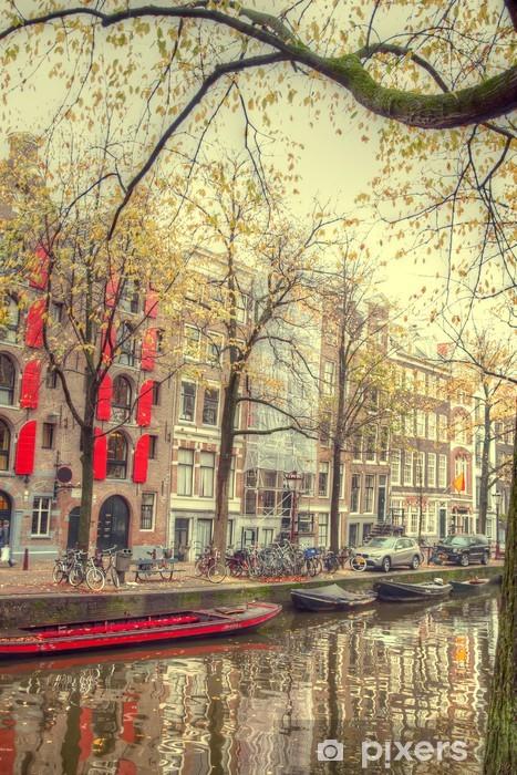 Papier peint vinyle Automne Amsterdam. beaux endroits en Europe - Infrastructures