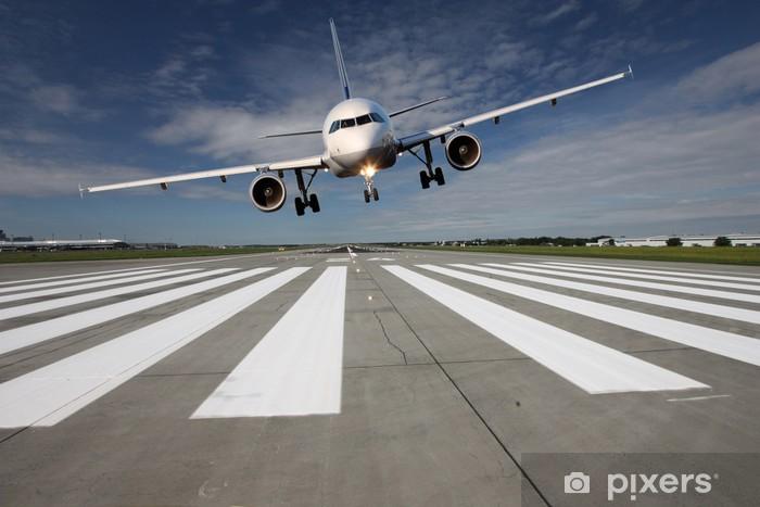 Papier peint vinyle Avions bas sur la piste - Thèmes
