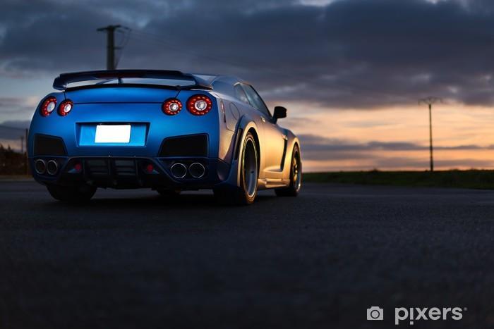 Vinil Duvar Resmi Nissan GTR - Karayolu