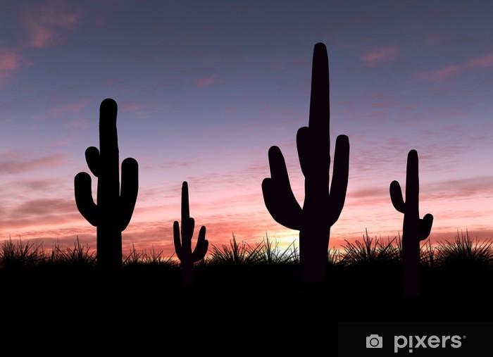 Cactus Pixerstick Sticker - Holidays