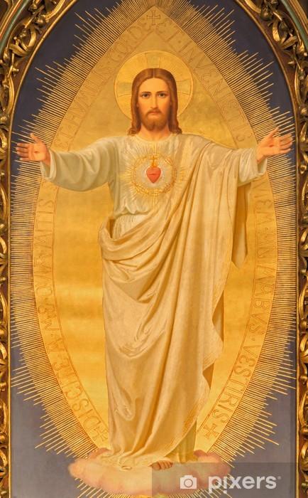 Pixerstick-klistremerke Wien - Hjerte av Jesus maling på alteret av Sacre Coeur kirke - Europeiske byer