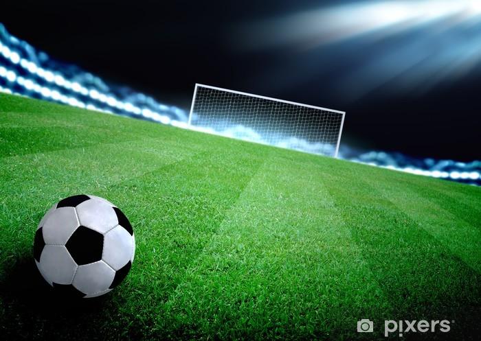 Naklejka Pixerstick Boisko do piłki nożnej i jasne światła - Budynki użyteczności publicznej