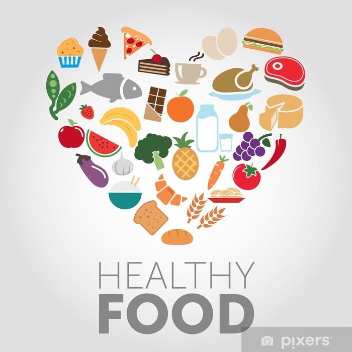 Sticker Pixerstick Healthy food - Arrière plans