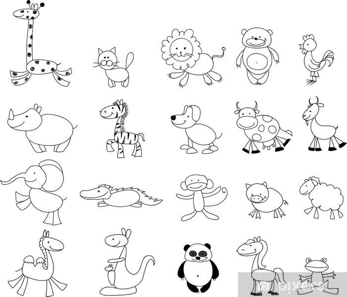 Nalepka Pixerstick Detske Kresby Doodle Zvirata Pixers Zijeme