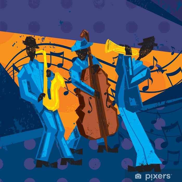 Jazz Band Pixerstick Sticker - Entertainment