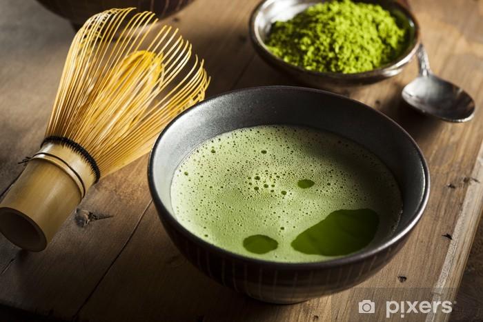 Vinyl-Fototapete Organic Green Sencha-Tee - Gerichte