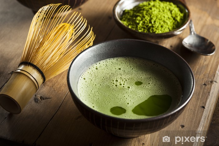 Papier peint vinyle Organic thé vert Matcha - Repas