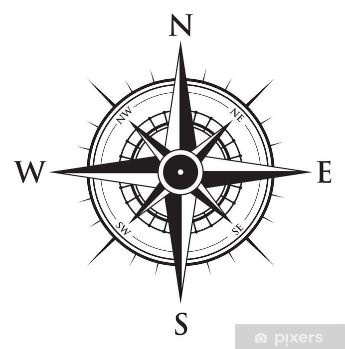Adesivo Compass Sfondo • Pixers® - Viviamo per il cambiamento