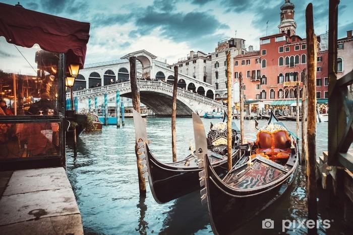 Papier peint lavable Vue classique du pont du Rialto - Venise - Vacances