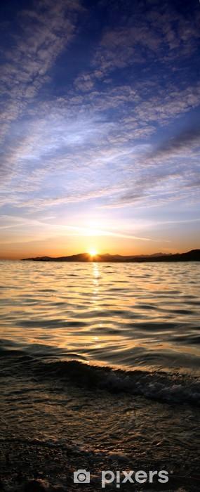 Nálepka Pixerstick Západ slunce na pláži - Nebe