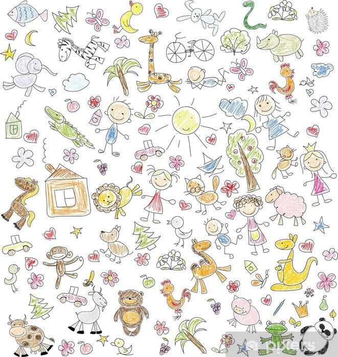 Carta Da Parati Bambini Texture.Carta Da Parati Disegni Dei Bambini Pixers Viviamo Per Il