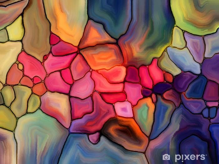 Vinyl Fotobehang Energie van het gebrandschilderd glas - Kunst en Creatie