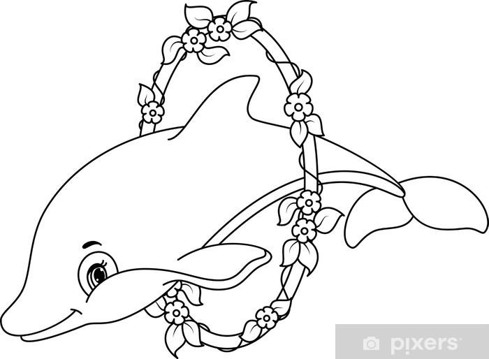 fotobehang dolfijnen kleurplaat pixers 174 we leven om te