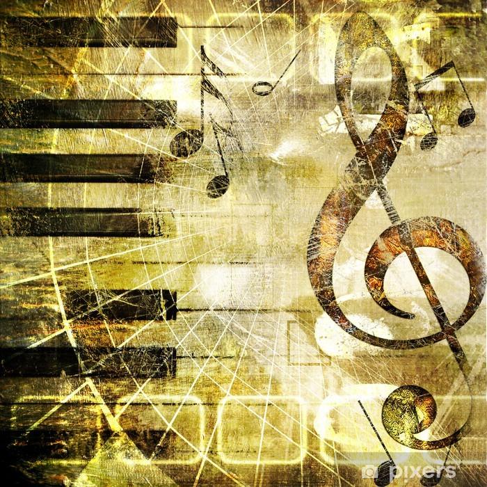 Naklejka Pixerstick Muzyki grunge - Style