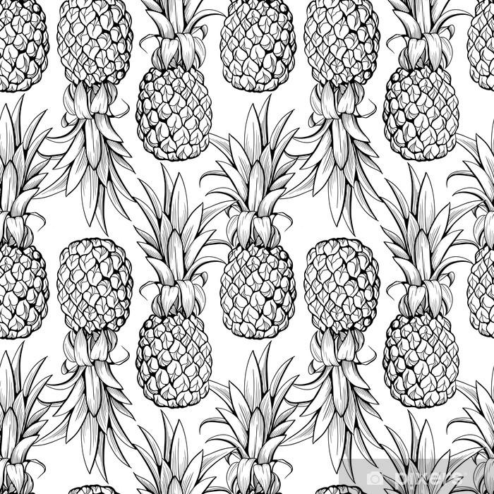 Fototapeta samoprzylepna Ananasy szwu - Tła