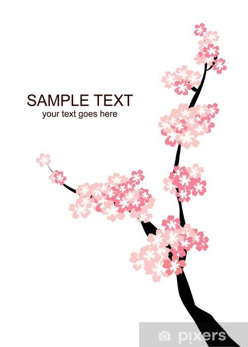 Nálepka Pixerstick Sakurai - Květiny