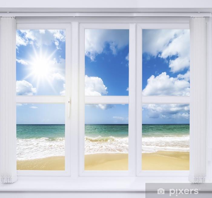Fototapeta winylowa Letnie okno - Woda