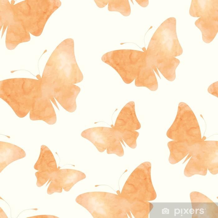 Poster Papillons d'aquarelle - Arrière plans