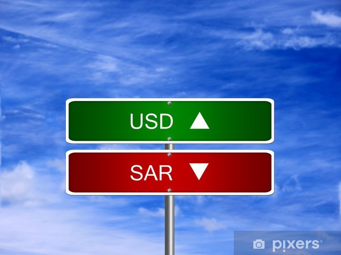 Naklejka Pixerstick SAR USD Forex Zaloguj - Finanse