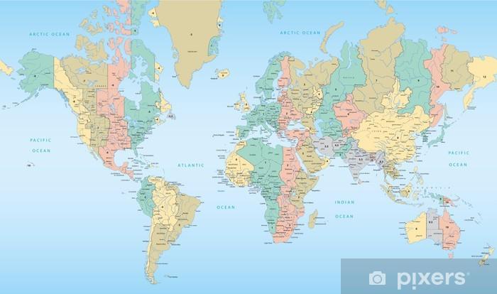 Cartina Fusi Orari Nel Mondo.Carta Da Parati Mappa Del Mondo Con Fusi Orari Pixers Viviamo Per Il Cambiamento