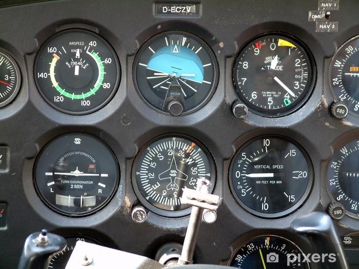 Fototapeta winylowa Kokpit Cessna - Transport powietrzny