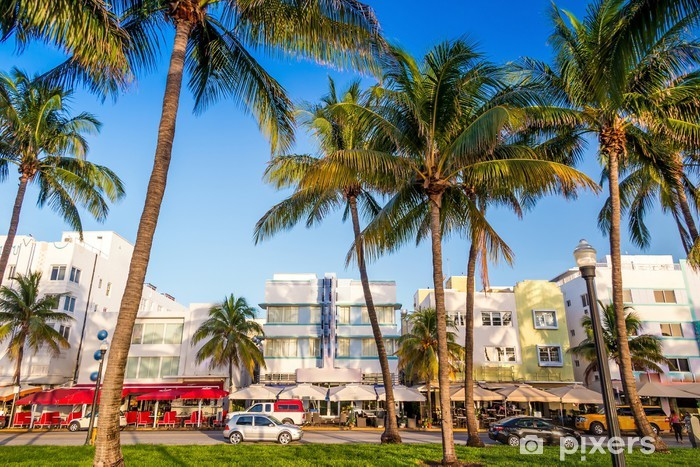 Fototapete Miami Beach Florida Hotels Und Restaurants In Der