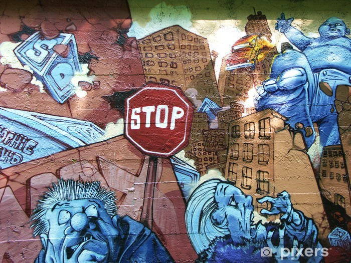 graffiti Pixerstick Sticker - Themes
