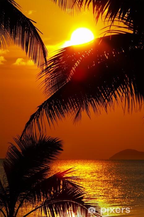 Fototapeta winylowa Zachód słońca w tropikach - Niebo