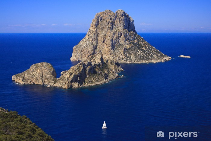 Es vedra Ibiza Pixerstick Sticker - Europe
