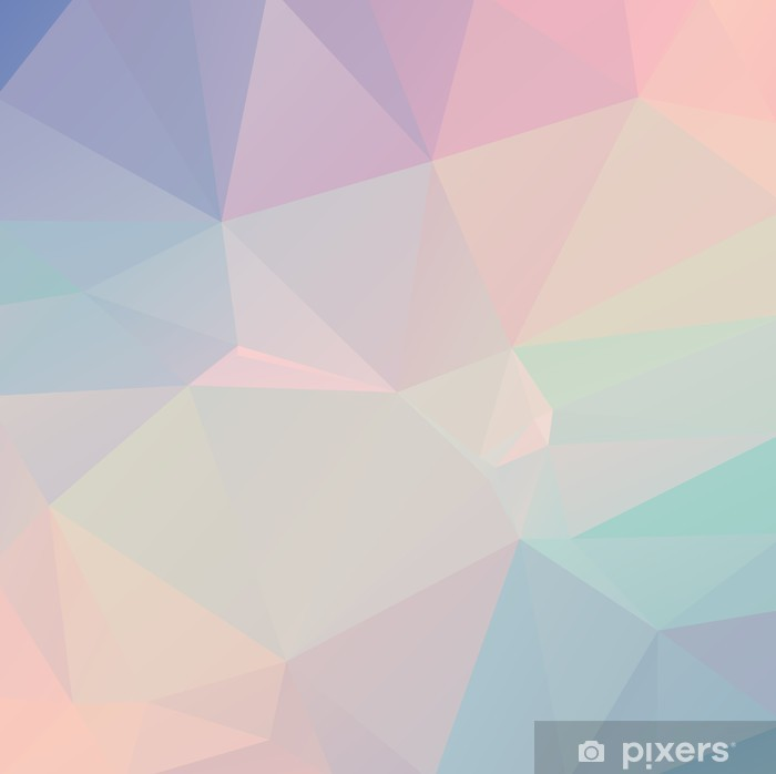 Pastel Polygon Geometric Framed Poster - Themes