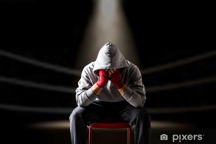 Fototapet av Vinyl Besegras boxare sittplatser på ringen - Teman