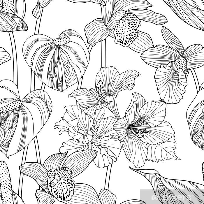 Fototapeta winylowa Powtarzalne kwiatowy wzór - Zasoby graficzne