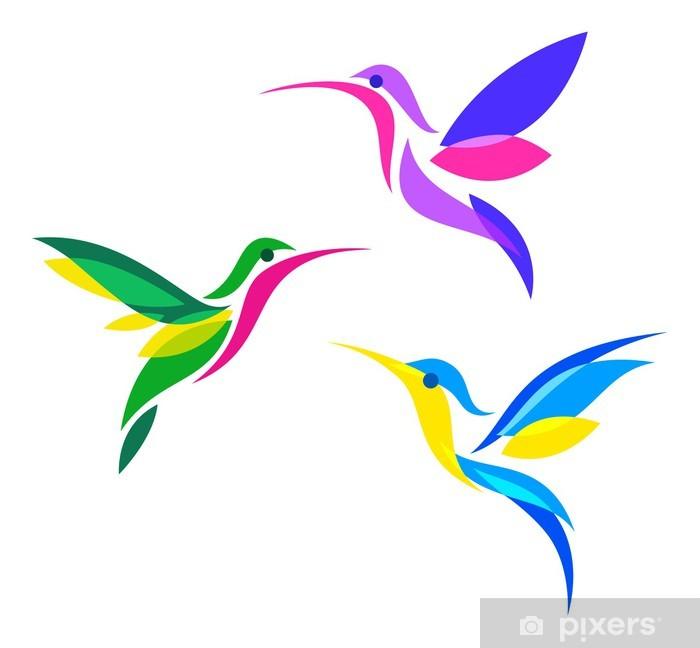 Plakat Stylizowane ptaki - Ptaki