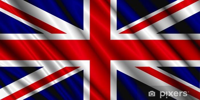 Papier peint vinyle Drapeau britannique de la soie - Europe