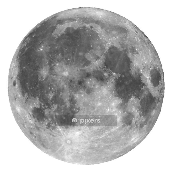 Full moon isolated Wall Decal - Outer Space