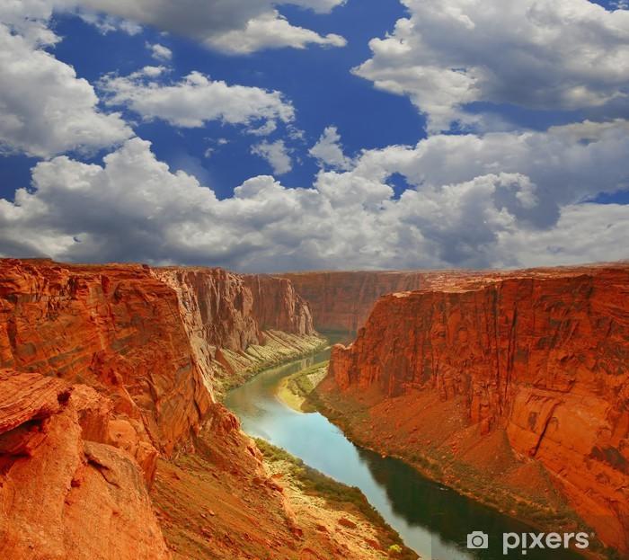 Pixerstick Sticker Water in het begin van de Grand Canyon - Wildernis