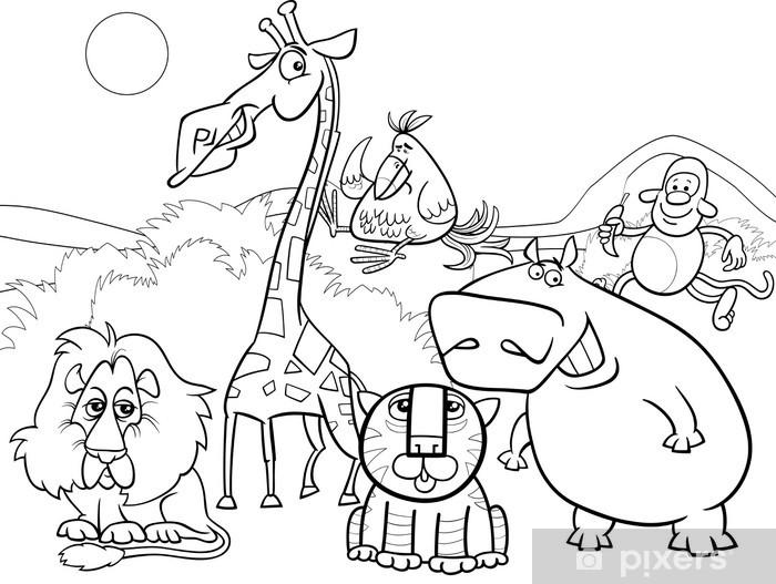 Vahsi Hayvanlar Grup Boyama Cikartmasi Pixerstick Pixers