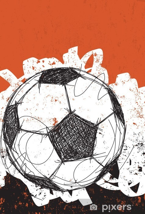 Soccer ball background Pixerstick Sticker - Sports