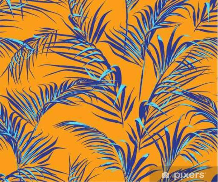 Vinyl Fotobehang Tropische palm verlaat naadloos patroon - Reizen