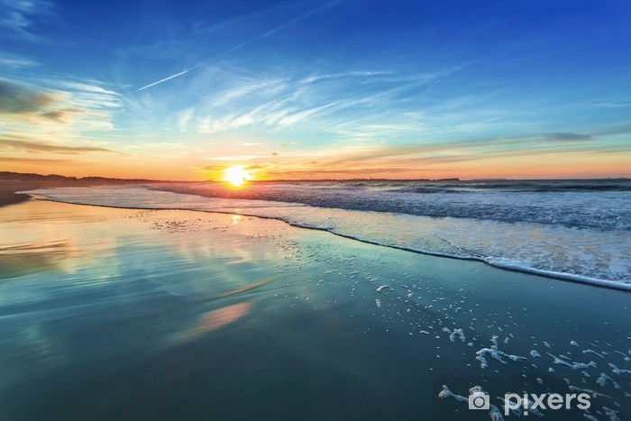 Vinilo Pixerstick Ocaso - Mar y océano