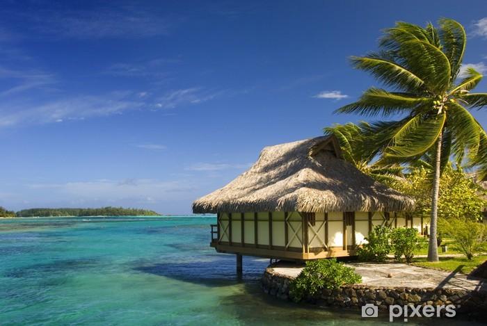Naklejka Pixerstick Bungalow na tropikalnej wyspie Moorea - Wyspy
