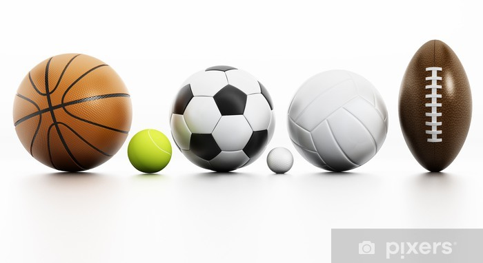 Sports Balls Wall Mural Pixers We Live To Change