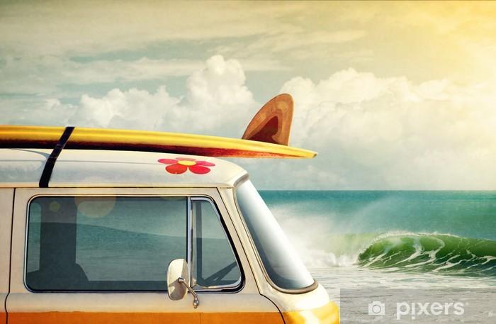 Naklejka Pixerstick Surfowanie sposobem na życie - Wakacje