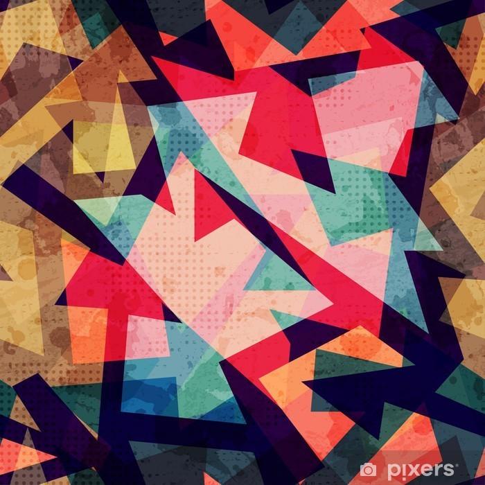 Plakat w ramie Grunge szwu wzór geometryczny - Zasoby graficzne