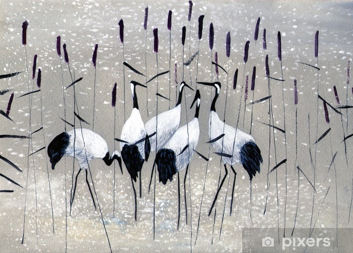 family of cranes Vinyl Wall Mural - Hobbies and Leisure