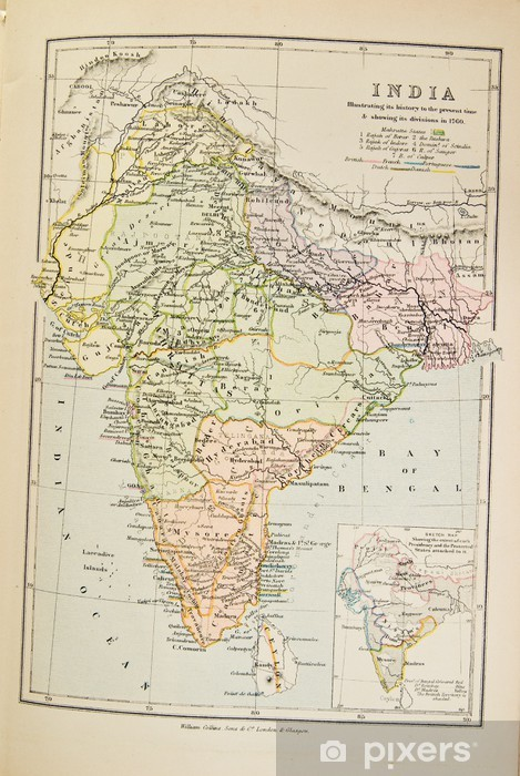 Very Old Map Of India Wall Mural Pixers We Live To Change