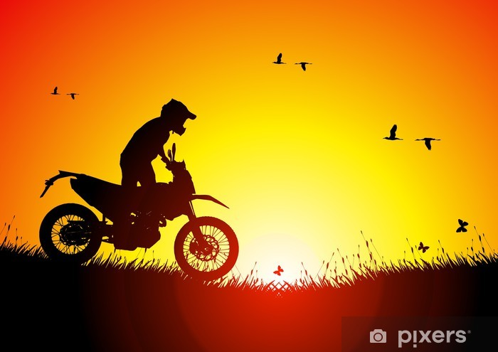 Enduro at sunset Vinyl Wall Mural - On the Road