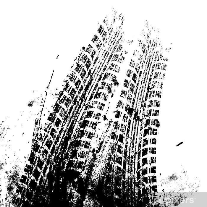 Plakat Tło z toru grunge czarny opon, wektor - Zasoby graficzne