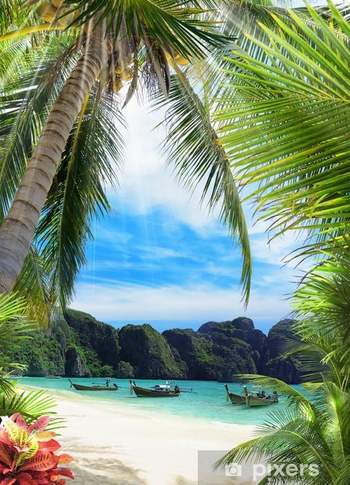 Palm beach Pixerstick Sticker - Islands